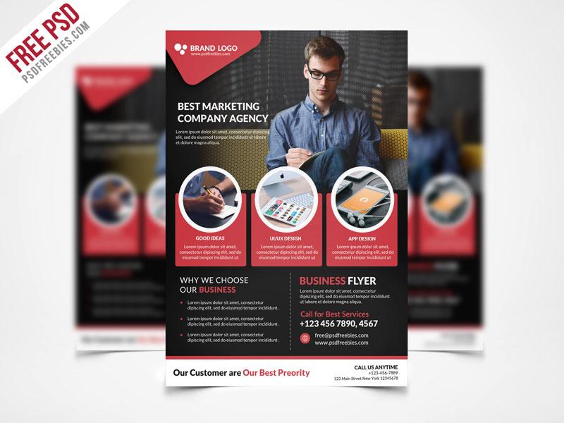 corporate business flyer template psd freebie psdfreebies com