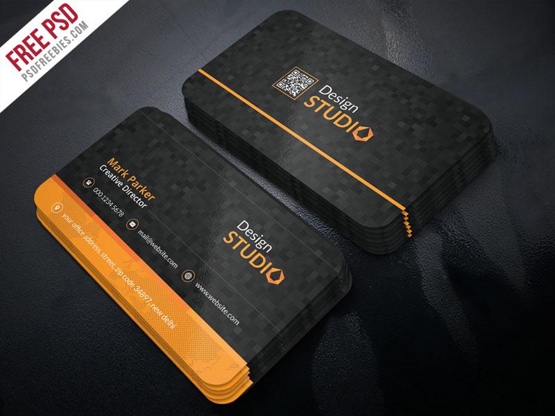 Creative Studio Business Card PSD Template