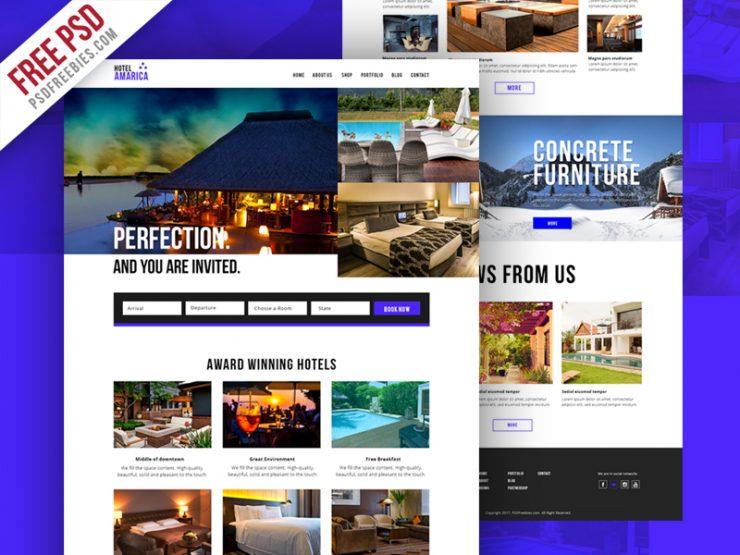 hotel booking website template psd. Black Bedroom Furniture Sets. Home Design Ideas