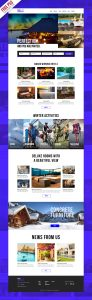 Hotel Booking Website Template PSD