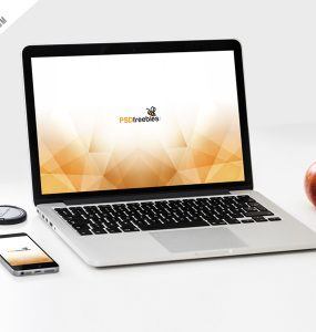 MacBook Pro and phone Mockup Template PSD