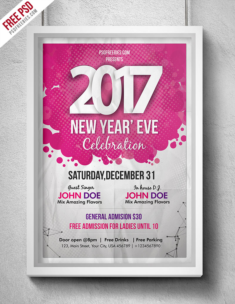 new year eve party flyer psd psdfreebies com