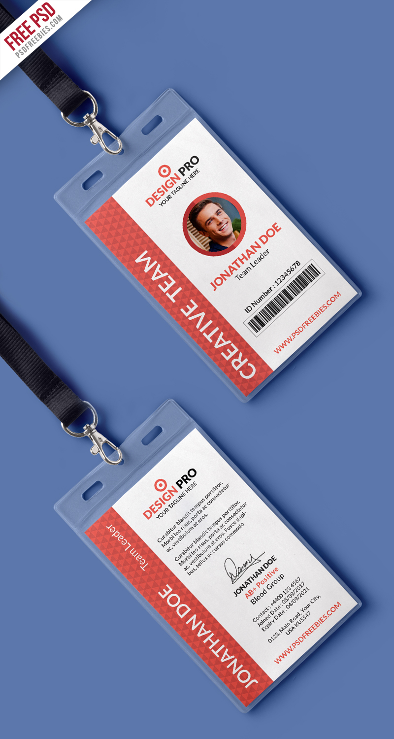 Office Identity Card Template PSD