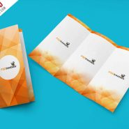 Tri-Fold Brochure Mockup PSD Template