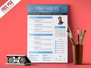 Creative Graphic Designer Resume PSD Template