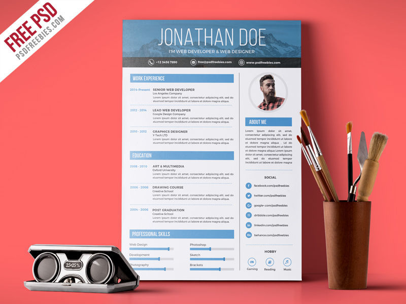 download job resume format%0A Awesome Resume Designs That Will Bag The Job Hongkiat Canva creative free  printable resume templates