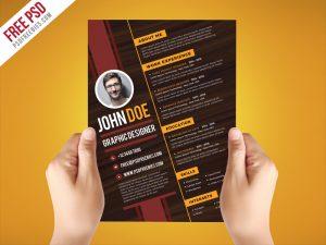 Creative Graphic Designer Resume Template PSD