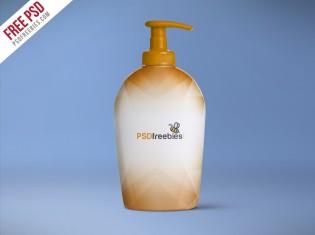 Soap Dispenser Bottle Mockup Free PSD