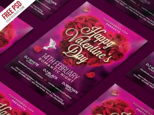 Valentines Day Flyer PSD Template