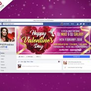 Valentines Day Party Facebook Cover Picture PSD