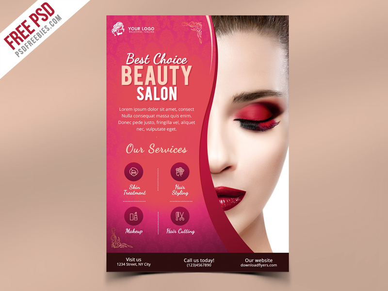 Beauty Salon Flyer Template PSD | PSDFreebies.com