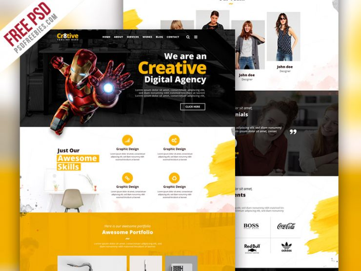 Creative Agency Portfolio Website PSD Template