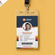 Creative Office Identity Card Template PSD