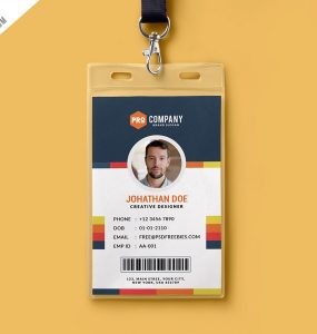 Creative Office Identity Card Template PSD
