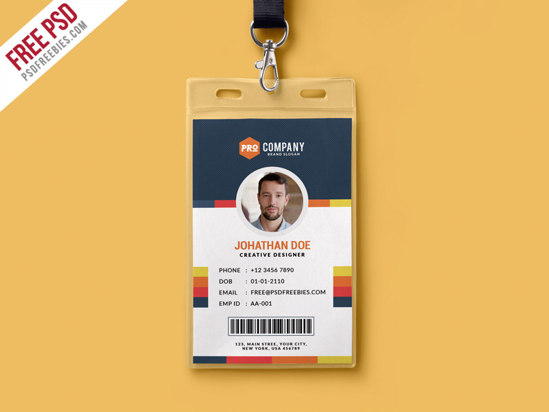 creative office identity card template psd psdfreebies com