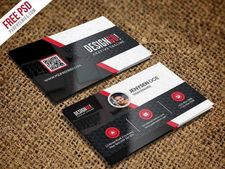 creative and modern business card template psd
