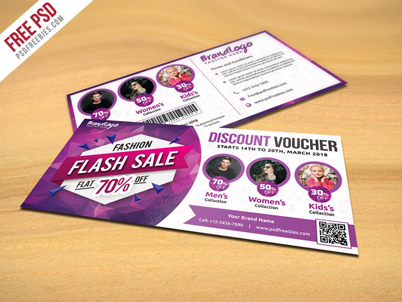 Fashion Sale Discount Voucher Free PSD
