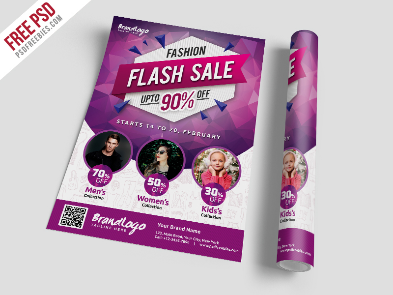 Fashion Sale Flyer Template Free PSD | PSDFreebies com