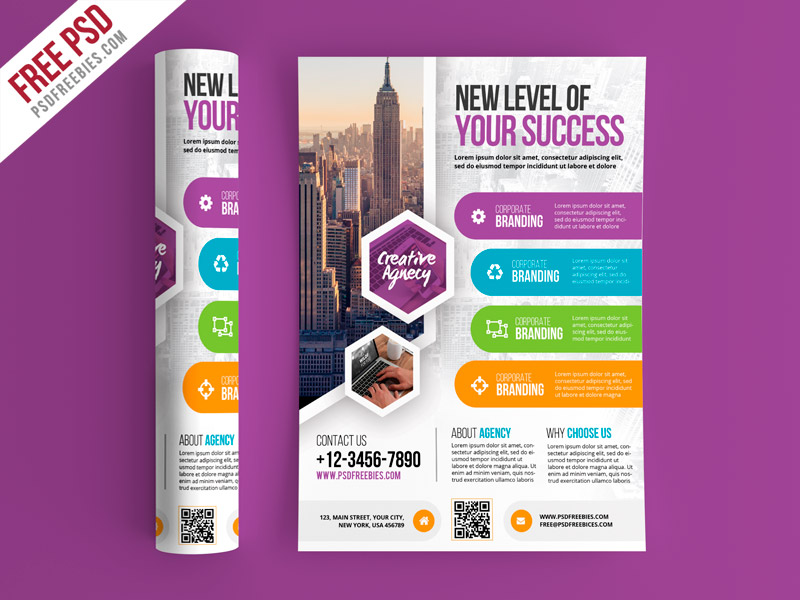 Multipurpose Business Flyer PSD Template