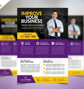 Multipurpose Corporate Business Flyer PSD Template