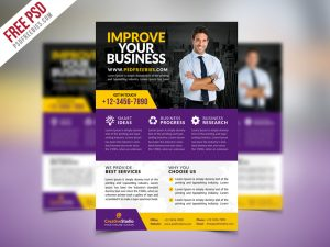 Multipurpose Corporate Business Flyer PSD Template