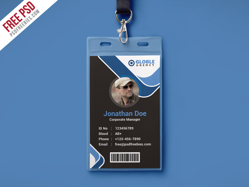 free employee badge template