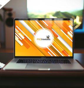 Realistic MacBook Pro Mockup Free PSD