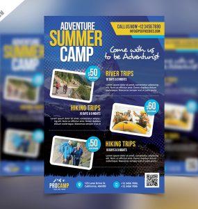 Adventure Summer Camp Flyer Template PSD