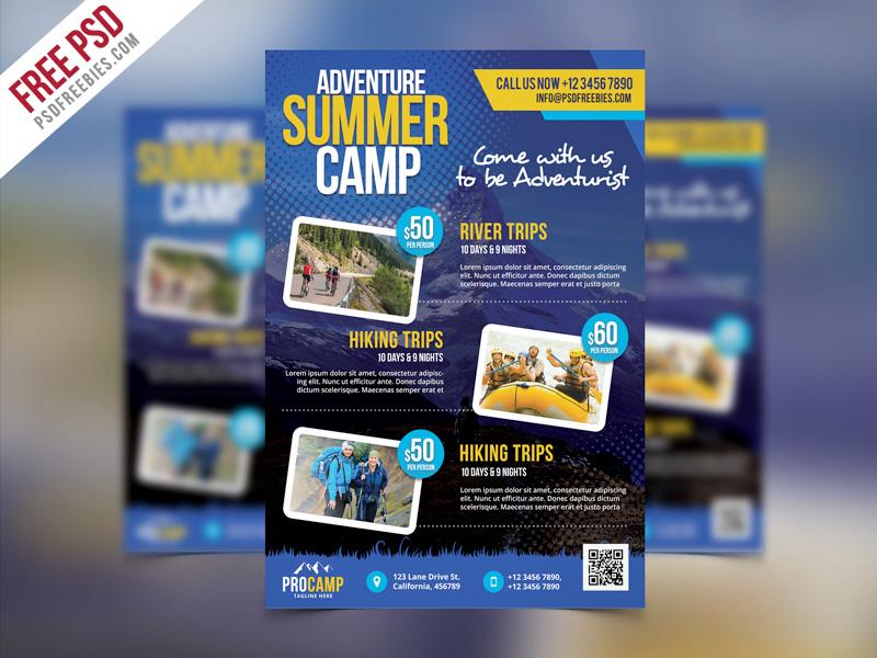Adventure Summer Camp Flyer Template Psd Psdfreebies Com