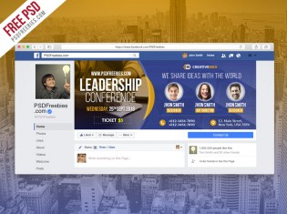 Conference Announcement Facebook Cover PSD
