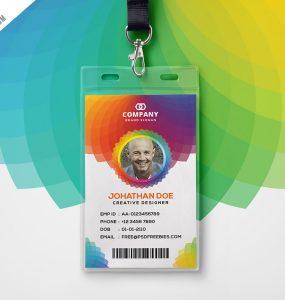 Corporate Branding Identity Card Free PSD