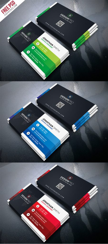 Creative and Modern Business Card PSD Bundle