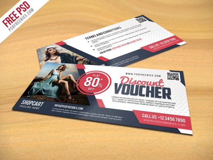 Discount Voucher PSD Template Freebie