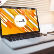 Macbook Pro in Indoor Mockup PSD