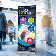Multipurpose Advertising Roll-Up Banner Free PSD
