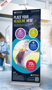Multipurpose Advertising Roll-Up Banner Free PSD