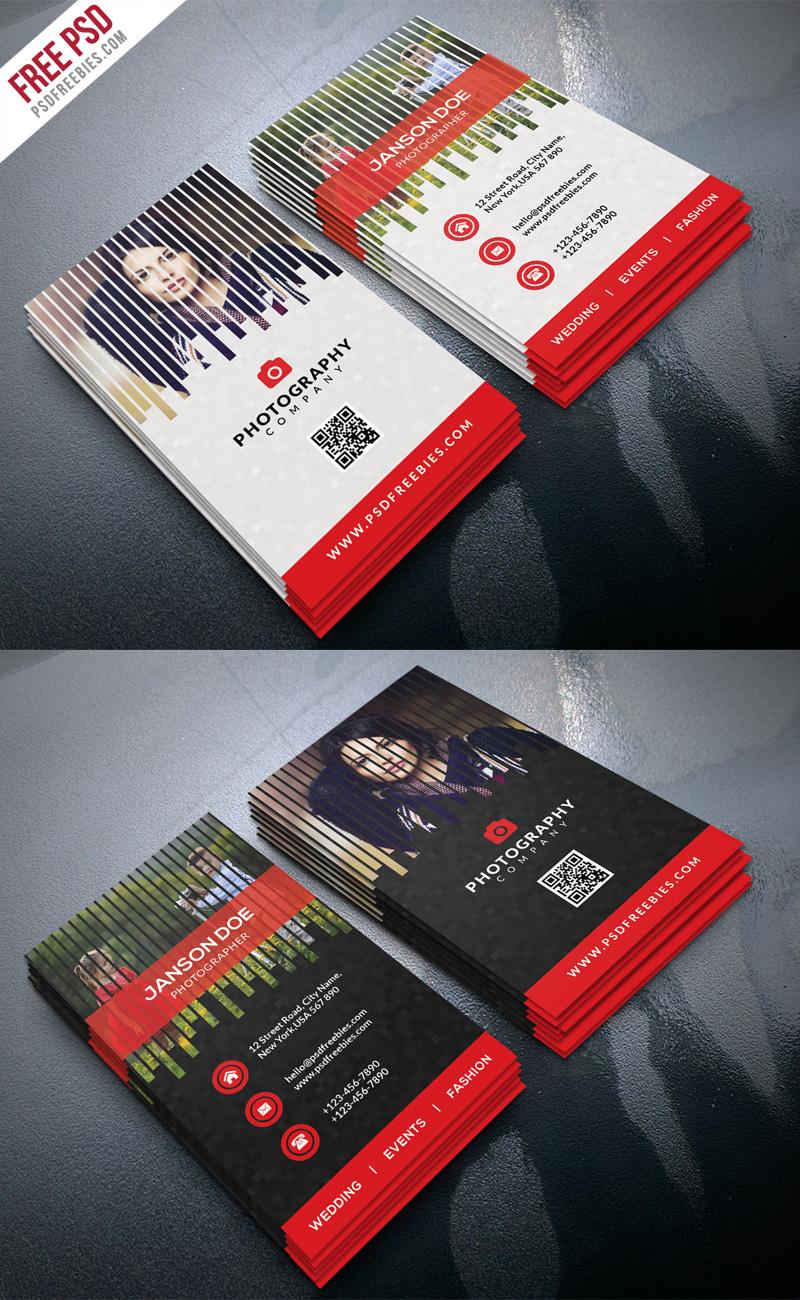Professional Photographer Business Card PSD Bundle