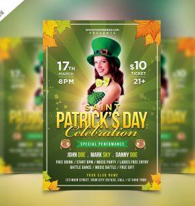Saint Patrick's Party Flyer PSD Template
