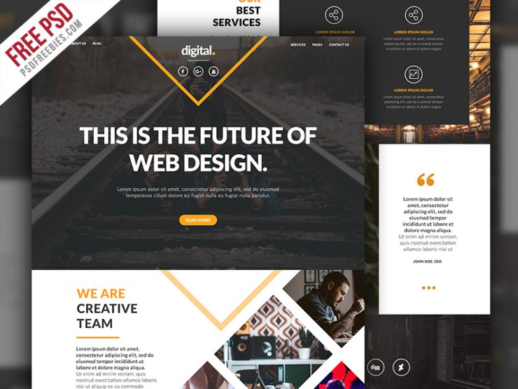 Businesses and Agencies Website Template PSD