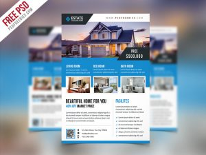 Clean Real Estate Flyer Template PSD