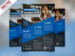 Digital Agency Advertising Flyer PSD Template