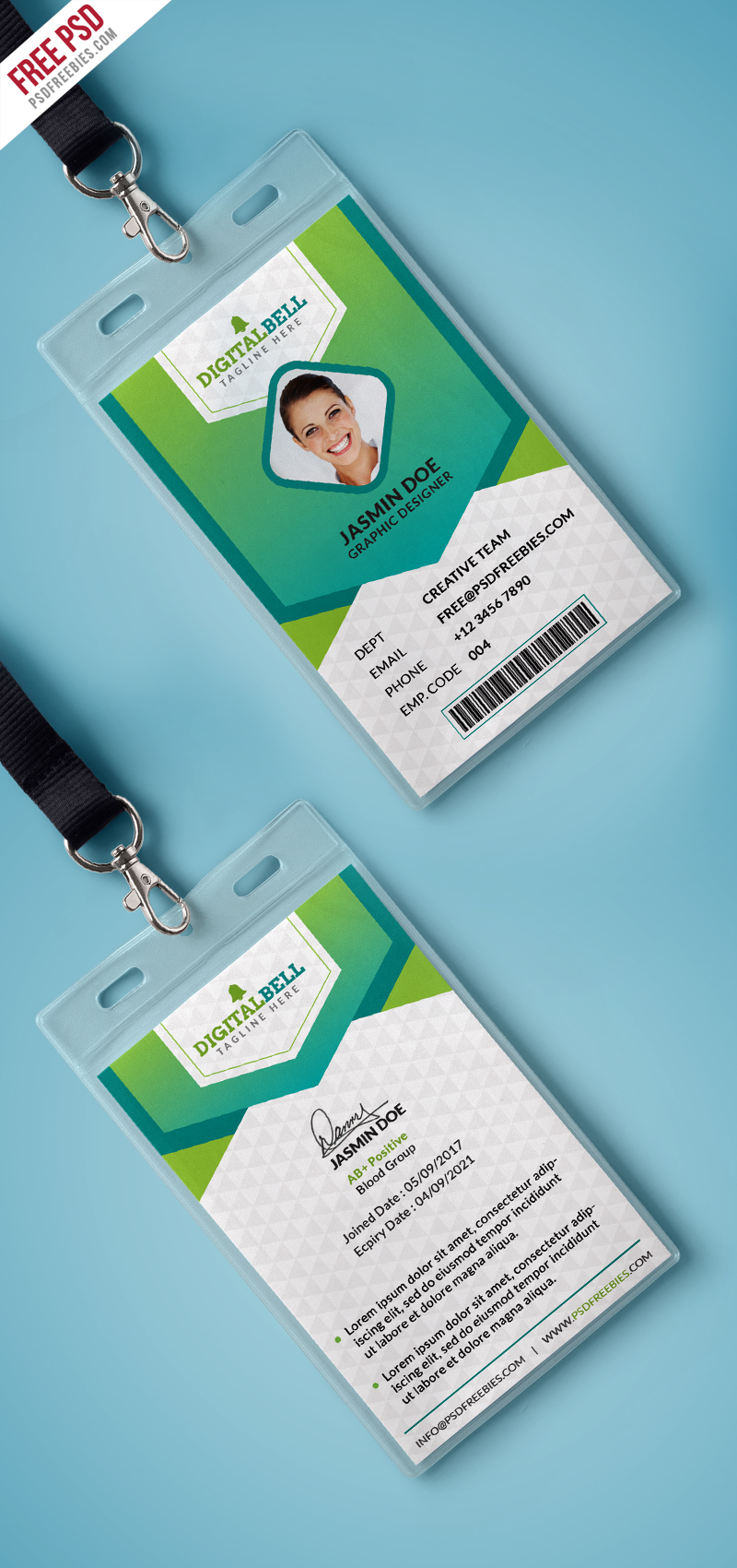 Multipurpose Photo Identity Card Template PSD