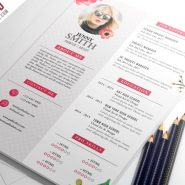 Painter Artist CV Resume Template PSD