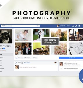 Photography Facebook Timeline Cover PSD Bundle