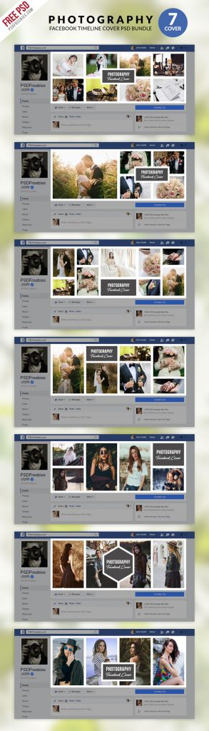 Photography Facebook Timeline Cover PSD Bundle