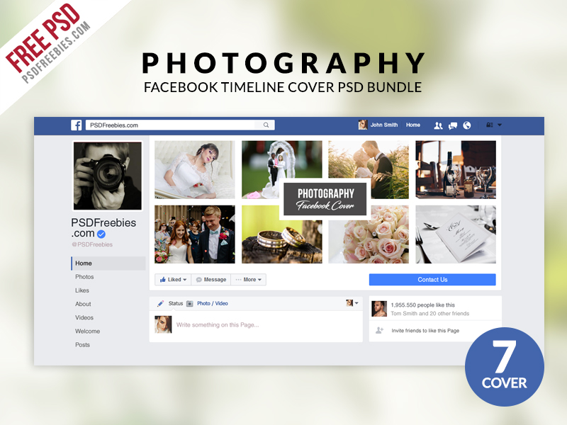Photography Facebook Timeline Cover Psd Bundle Psdfreebies
