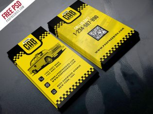 Taxi Cab Service Business Card Template PSD