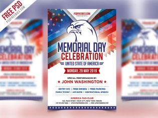 America Memorial Day Event Flyer Template PSD