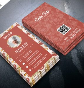 Cake Shop Business Card PSD Template