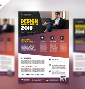 Conference Announcement Flyer PSD Template